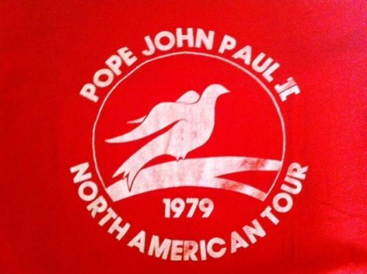 Rare – Pope Tour 1979 Authentic Vintage T-Shirt