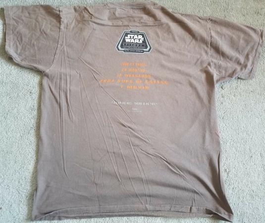 Star Wars Ep1 ILM VFX Crew Shirt 1999