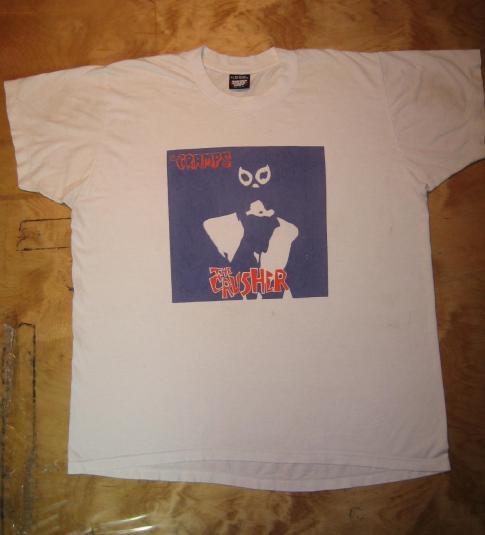 THE CRAMPS (screen star label) The Crusher Album promo shirt