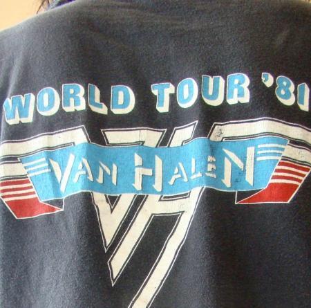ORIGINAL VTG 1981 VAN HALEN WORLD WIDE TOUR T SHIRT