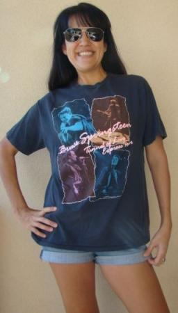 VINTAGE 1988 BRUCE SPRINGSTEEN TUNNEL OF LOVE EXPRESS TOUR T