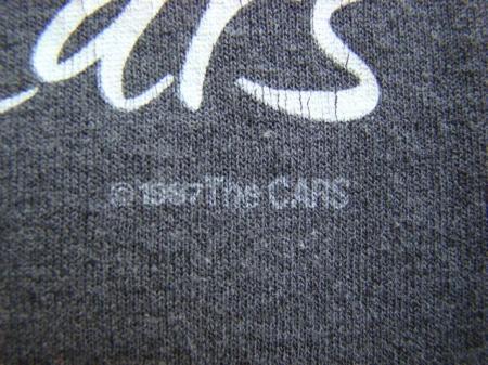 VINTAGE 1987 THE CARS TOUR T SHIRT