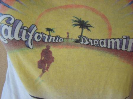"ORIGINAL VINTAGE 1979 ""CALIFORNIA DREAMING"" MOVIE T SHIRT"
