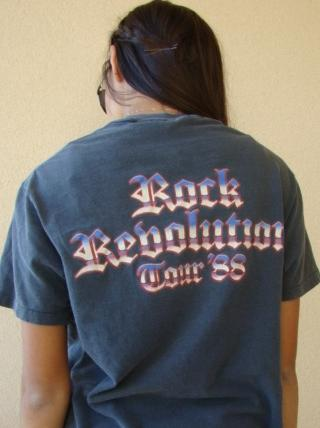 RARE GLAM ROCK BRITNEY FOX REVOLUTION 1988 TOUR T SHIRT