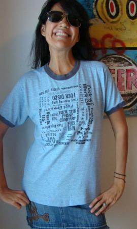 VINTAGE 70'S RAYON THE ULTIMATE F**K OFF T SHIRTRINGER