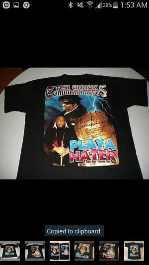 """Vintage 1990's The Notorious B.I.G """"King Of New York Shirt"""