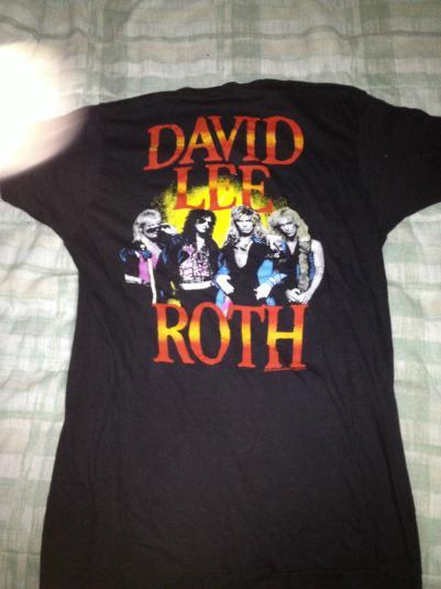 ultra rare David Lee Roth 1986 Eat Em and Smile Tour Shirt
