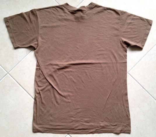 Vintage plain blank brown 80s t-shirt SOFFE USA 50/50 20″ M