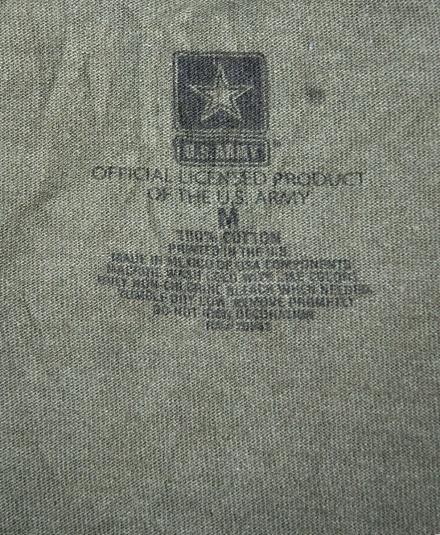 Vintage U.S. ARMY Camo Camouflage tshirt Tunic Crew Neck M