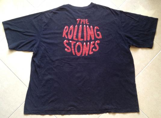 Vintage Rolling Stones Unknown Year t-shirt Black 3XL