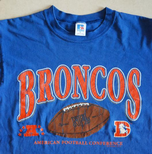 Denver Broncos AFC Football Russell Athletic Blue USA M