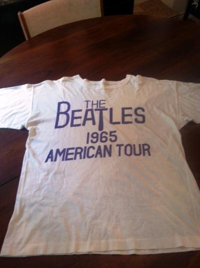 Genuine Beatles T-Shirt Purchased in 1965 at Toronto Maple L