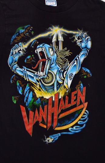 Vintage 80s Van Halen Kicks Ass 50/50 T Shirt Sz M