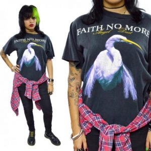 Vintage 80s Faith No More Angel Dust Tour Concert T Shirt L