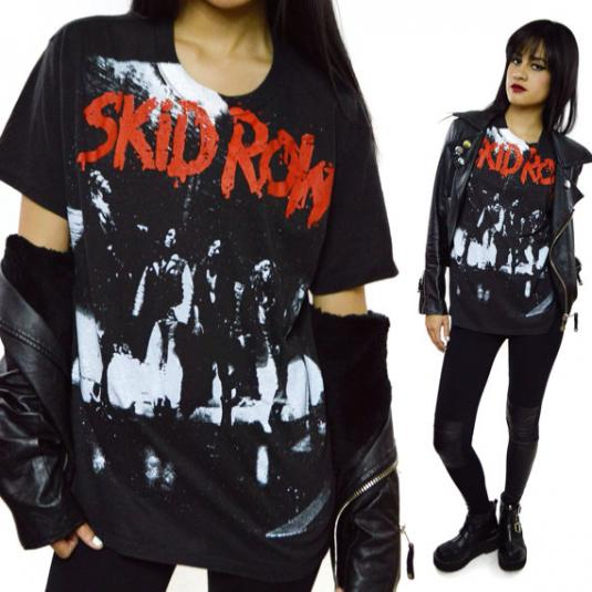 Vintage 80s Skid Row Making a Mess of The US 1989 T Shirt