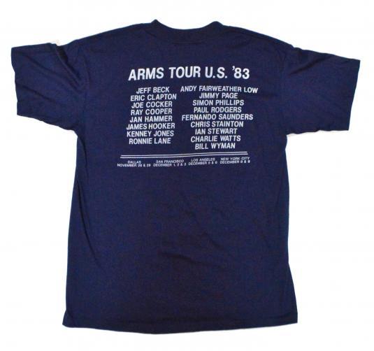 Vintage 80s Ronnie Lane Appeal for Arms Tour T Shirt Sz L