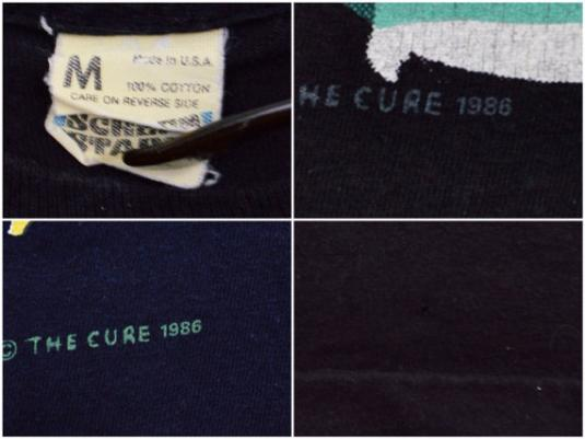 Vintage 80s The Cure Staring At The Sea T Shirt Sz M
