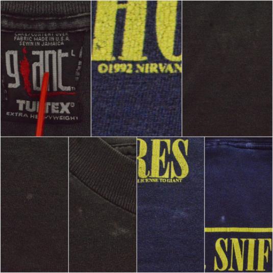 Vintage 90s Nirvana Smiley Face Grunge Rare T Shirt Sz L