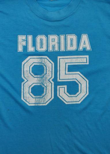 Vintage 80s Florida 85 Screen Stars Tank Muscle T-Shirt Sz M