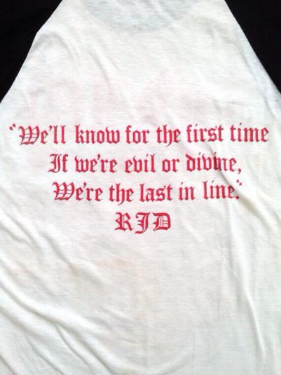 Vintage 80s DIO The Last In Line Raglan Jersey T Shirt
