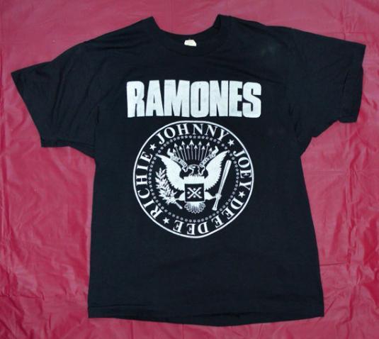 Vintage 80s Ramones Hey Ho Let's Go T Shirt