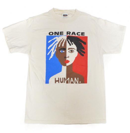 Vintage 90s One Race Human. T Shirt Sz L