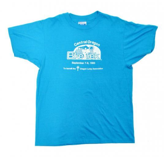 Vintage 80s Central Oregon Bike Trek T Shirt Sz L
