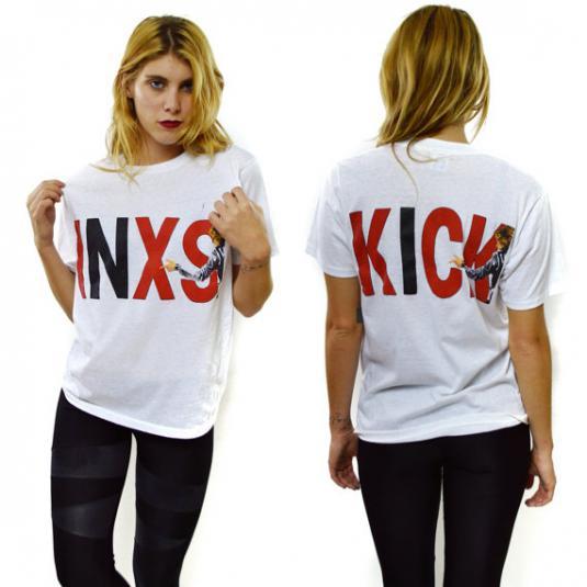 Vintage 80s INXS Kick 50/50 T Shirt Sz L