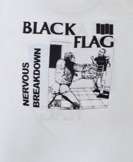 Vintage 80s Black Flag Nervous Breakdown Rare T Shirt