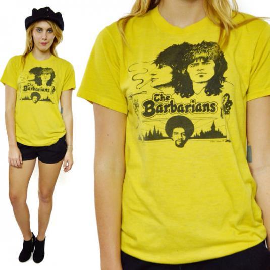 Vintage 70s The New Barbarians Rare T Shirt Sz L