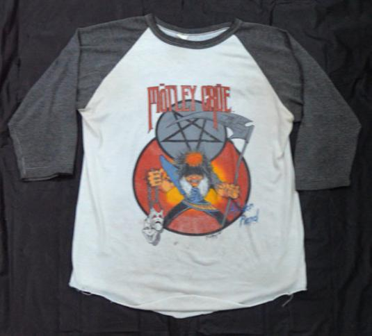 Vintage 80s Mötley Crüe Theater of Pain Tour Raglan Jersey