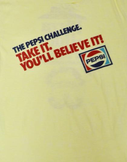 Vintage 80s Pepsi Pizza Hut Arm Wrestling Champ T Shirt