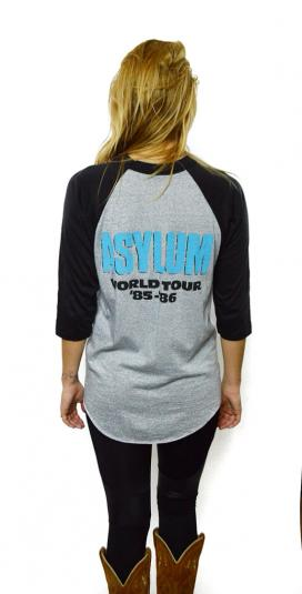 Vintage 80s KISS Asylum World Tour Raglan 3/4 Sleeve Jersey