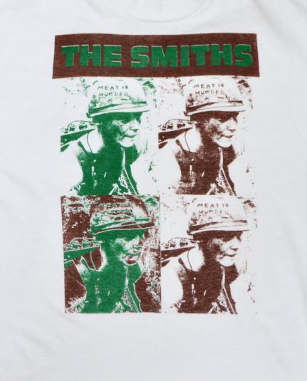 Vintage 80s The Smiths Meat is Murder Rare 50/50 T Shirt Sz