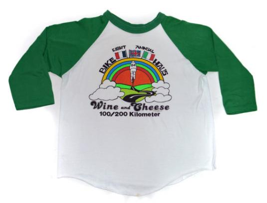 Vintage 80s Eight Annual Bike Haus 84 Wine Cheese Jersey
