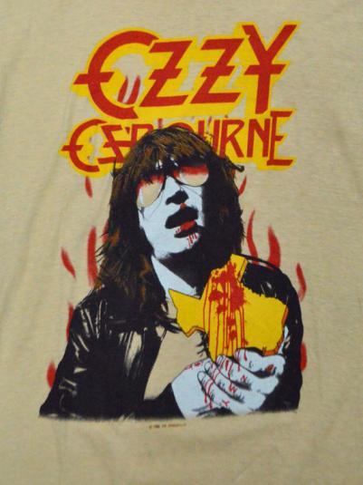 Vintage 80s Ozzy Osbourne Bites the Big One Texas T Shirt