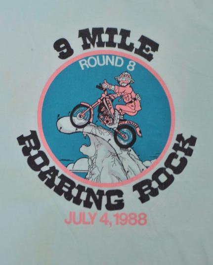 Vintage 80s 9 Mile Roaring Rock Round 8 T Shirt Sz L