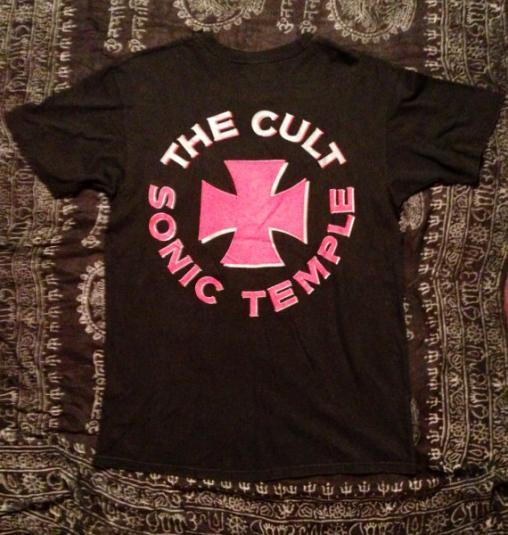 Vintage 80s THE CULT Sonic Temple Ian Astbury Goth Rock T Sh