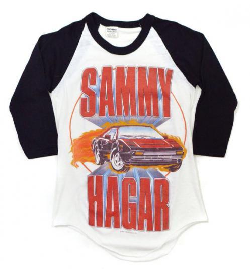 Vintage 80s Sammy Hagar Can't Drive 55 Raglan Jersey T Shirt