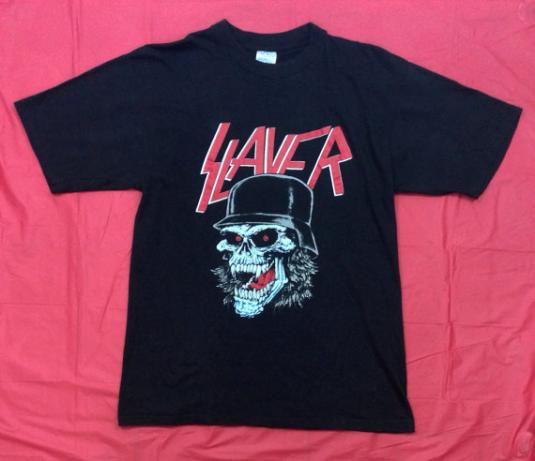 Vintage 80s SLAYER Slaytanic Wehrmacht Evil Thrash T Shirt