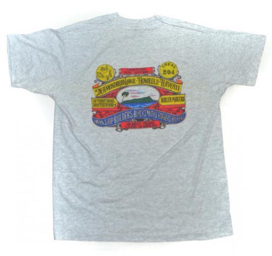 Vintage 90s Union Diamondhead Lodge Honolulu Hawaii T Shirt