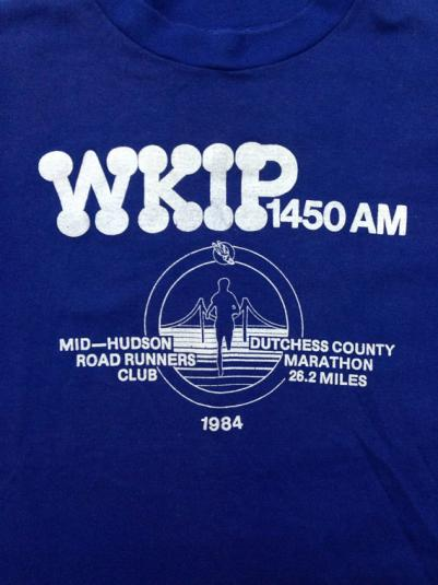 Vintage 80s WKIP Runner Marathon 1984 Indie T Shirt