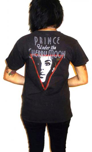 Vintage 80s PRINCE Under The Cherry Moon Glam Black T Shirt
