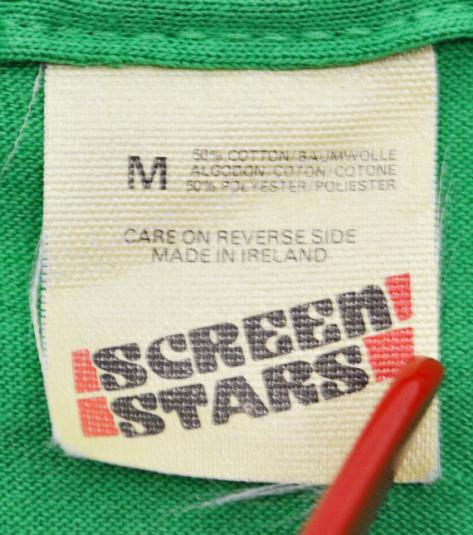 Vintage 80s Ireland Screen Stars T Shirt Sz M