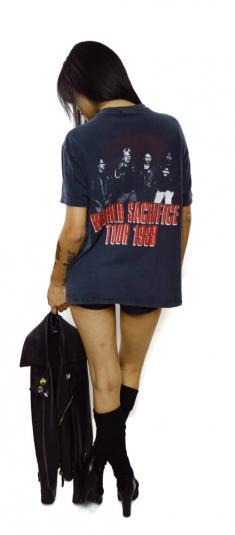 Vintage 80s Slayer South of Heaven World Sacrifice Size L