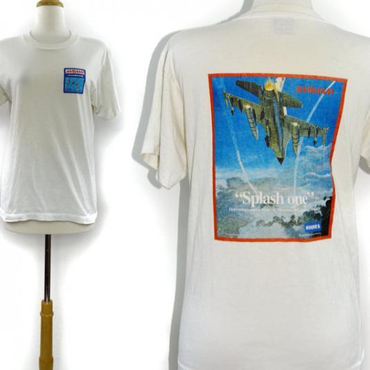 Vintage 90s Amraam Splash One Hughes Missile Systems T Shirt