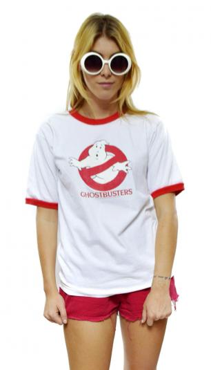 Vintage 80s Ghostbusters Promotional Ringer T Shirt Sz M