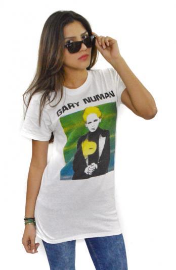 Vintage 80s Gary Numan Postpunk New Wave T Shirt Sz M