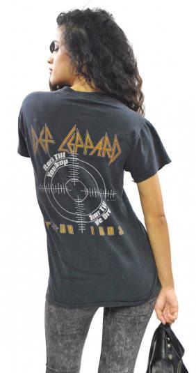 Vintage 80s Def Leppard Pyromania Tour T Shirt Sz M