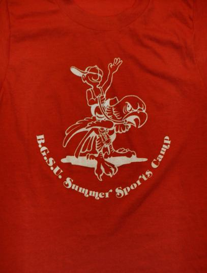 Vintage 80s B.G.S.U. Summer Sports Camp Screen Stars T Shirt
